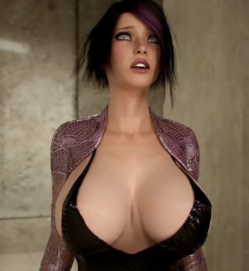 Picture- Cartoon Girl with big tits-2