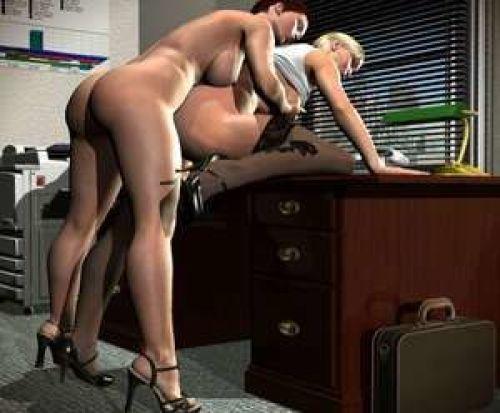 Gif- Lesbian 3D Cartoon Sex Porn